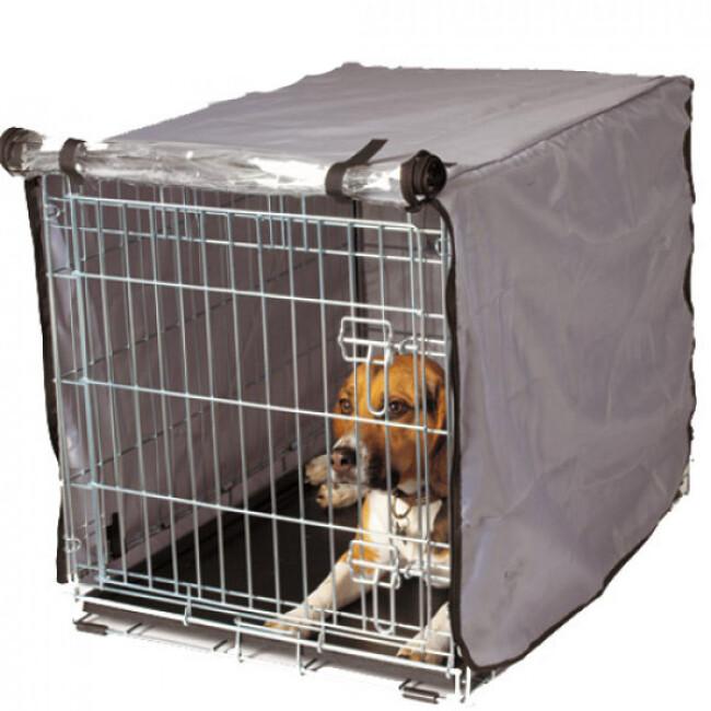 Housse pour cage pliable métallique pour chien ou chat