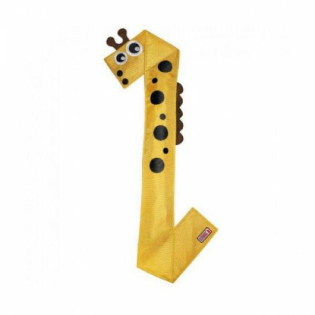 Jeu de lancer girafe en tissu KONG Ballistic Flatz pour chien