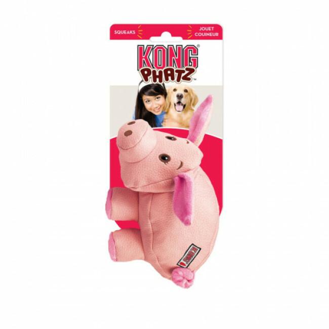 Jouet cochon couineur à mastiquer pour chien KONG Phatz Pig