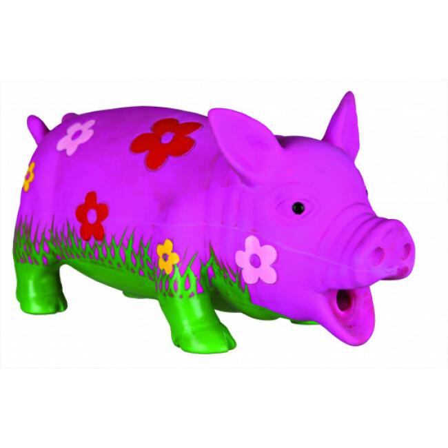 Jouet cochon en latex pour chiens avec motifs fleurs Trixie