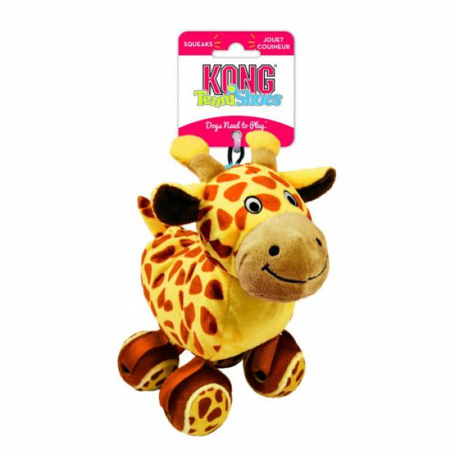 Jouet en peluche girafe avec balles de tennis KONG Tennishoes