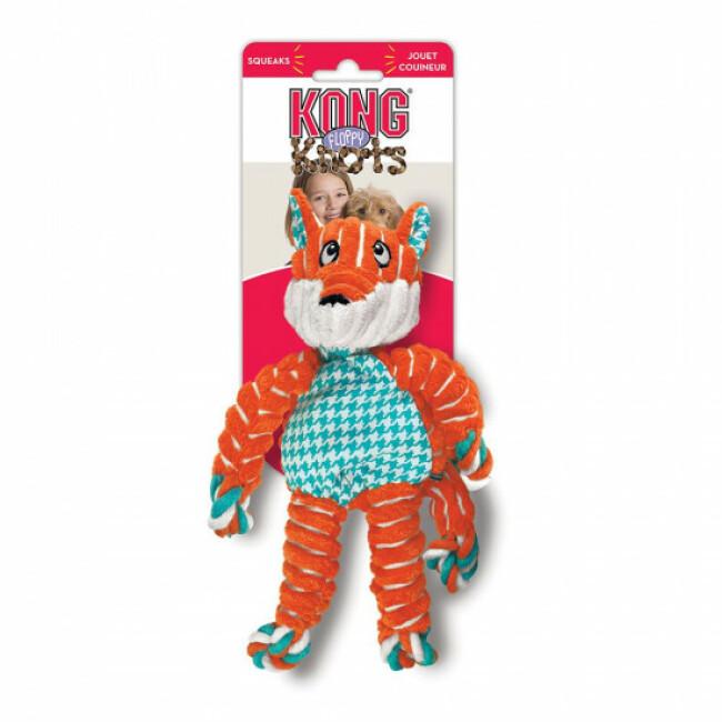 Jouet en peluche renard avec corde pour chien KONG Knots