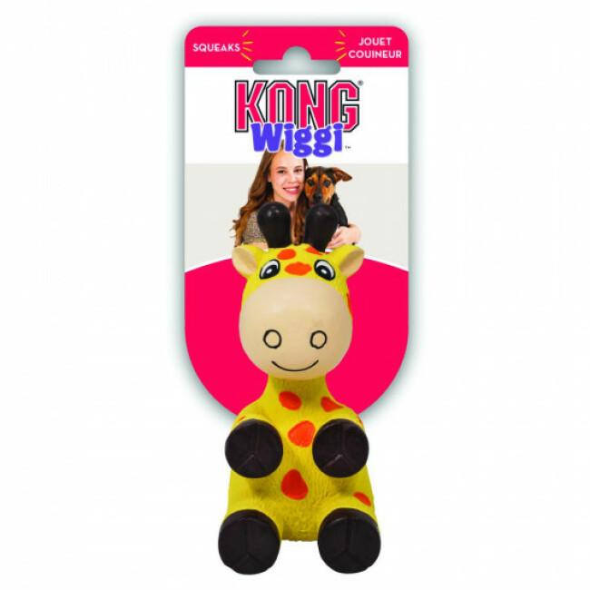 Jouet girafe avec squeaker pour chien KONG Wiggi