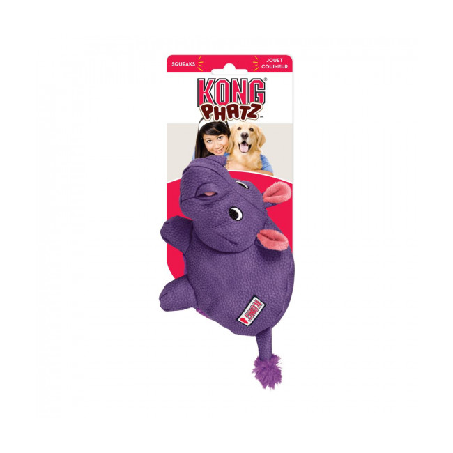 Jouet hippopotame couineur à mastiquer pour chien KONG Phatz Hippo