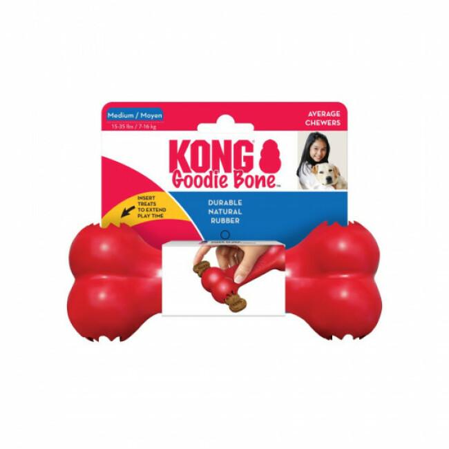 Jouet os pour chien Goodie Bone KONG Rouge