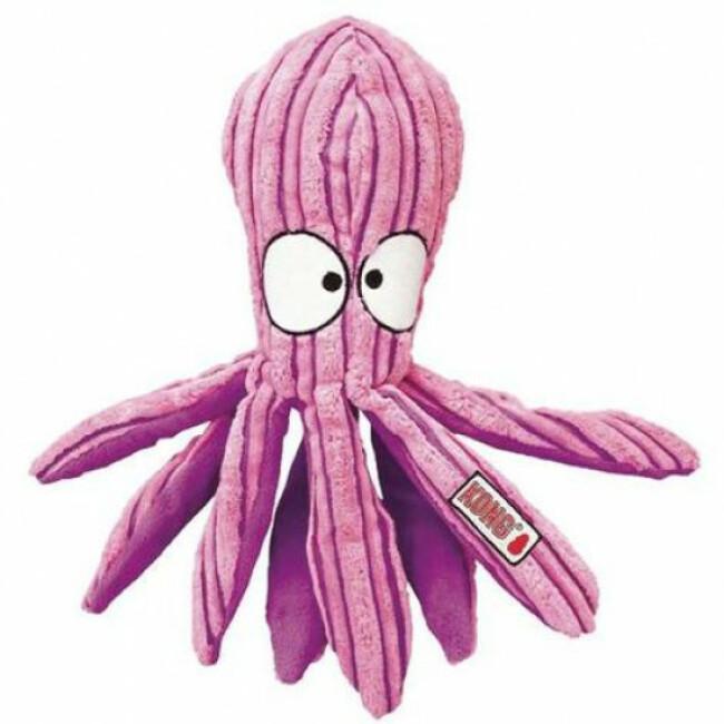 Jouet pieuvre couineur en velours pour chien KONG Cuteseas Octopus