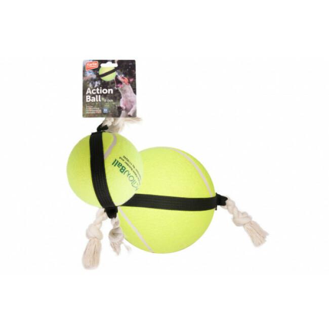 Jouet pour chien balle de tennis à corde ActionBall Flamingo