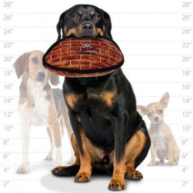 Jouet pour chien très résistant méga Oddball motifs brique Tuffy