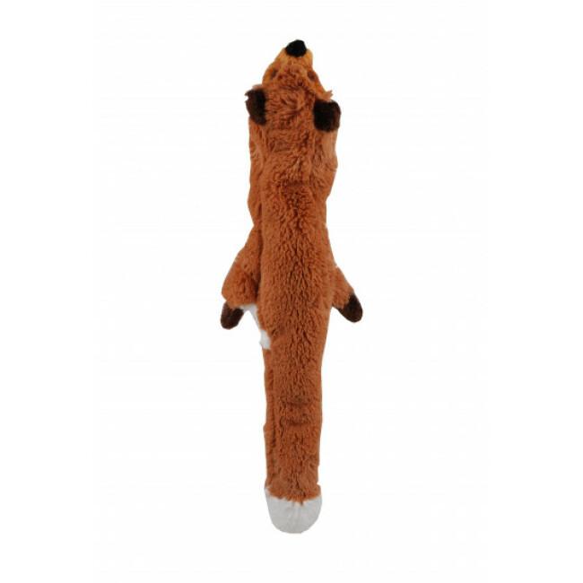 Jouet renard pour chien tissu non rembourré Anka