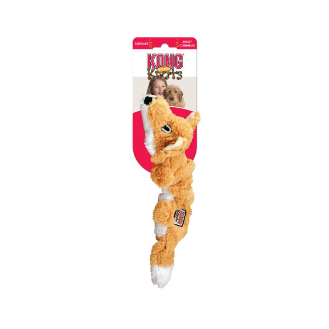 Jouet renard rembourrage corde pour chien KONG Scrunch Knots