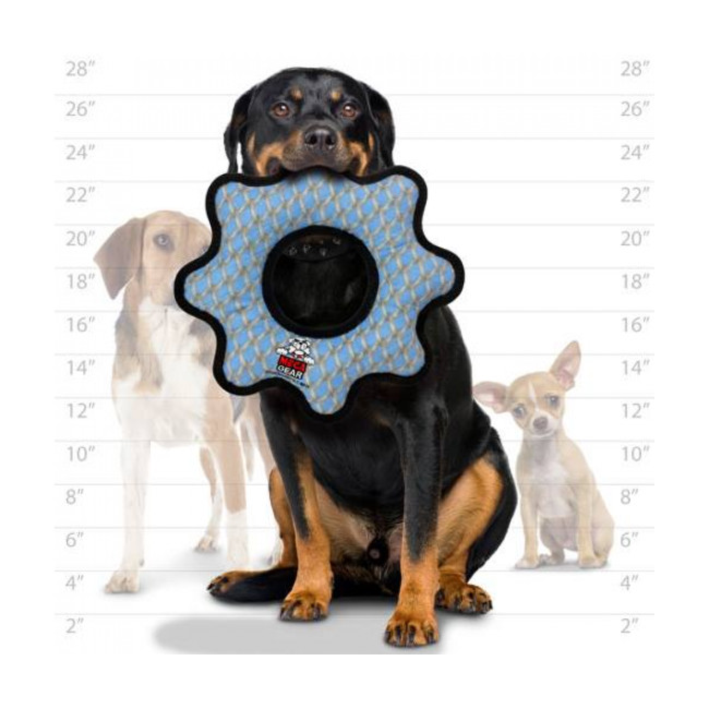 Jouet très résistant pour chien méga anneau motif grillage Tuffy