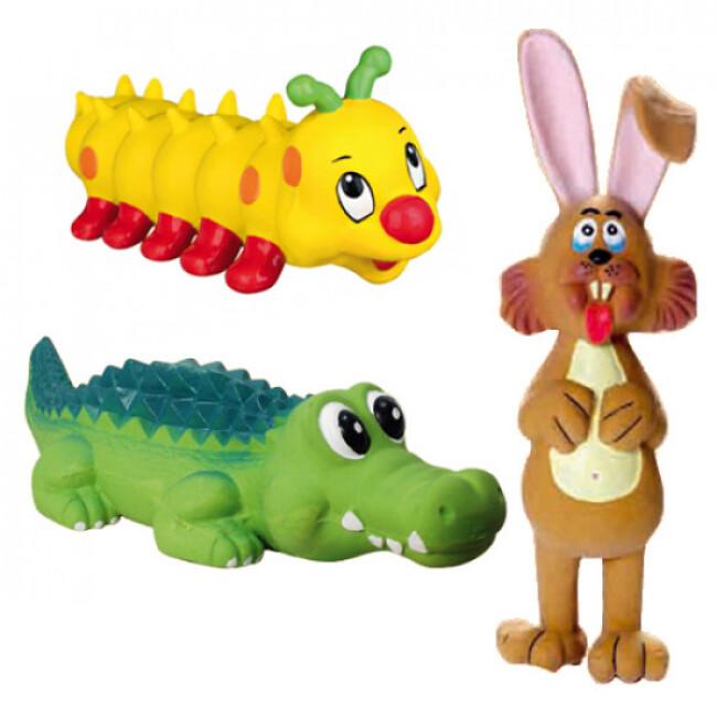 Jouets animaux en latex pour chien