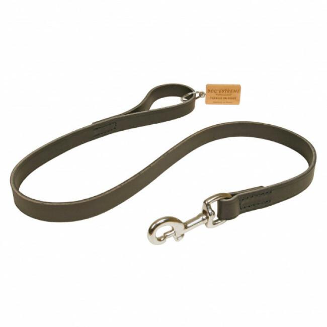 Laisse noire en cuir pour chien Dog Extreme