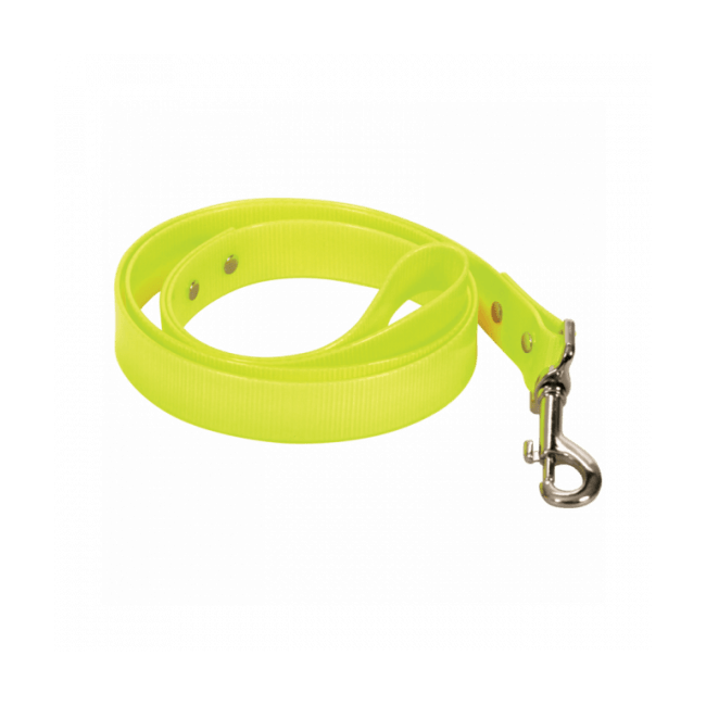Laisse pour chien en pvc Chapuis Sellerie fluo jaune