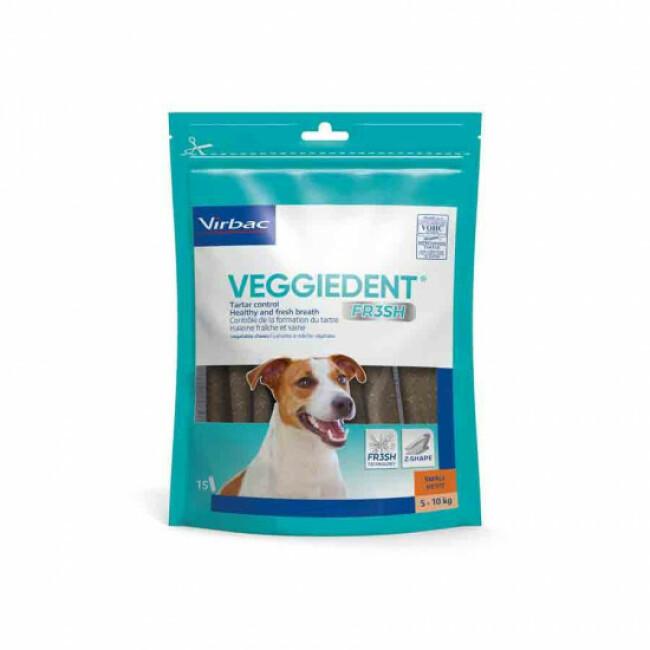 Lamelles dentaires anti-plaque pour chien VeggieDent Virbac