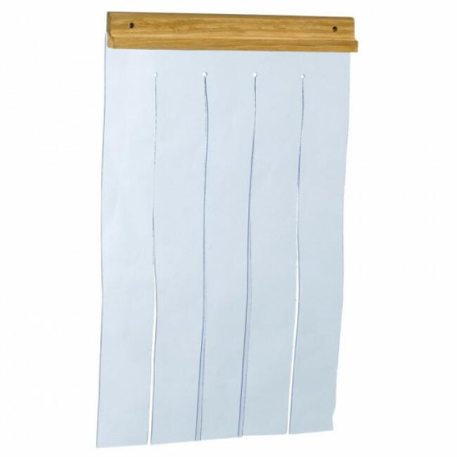 Lamelles souples en plastique pour porte de niche en bois