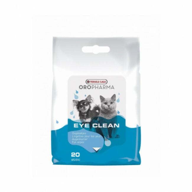 Lingettes nettoyantes oculaires pour chien et chat Oropharma Eye Clean Versele Laga
