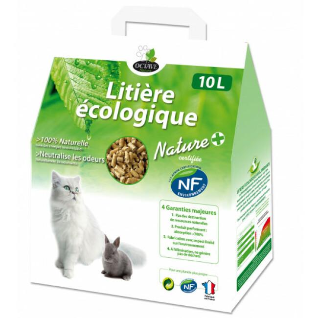 Litière écologique naturelle pour chats et rongeurs en granules Naturlys Sac 10 litres