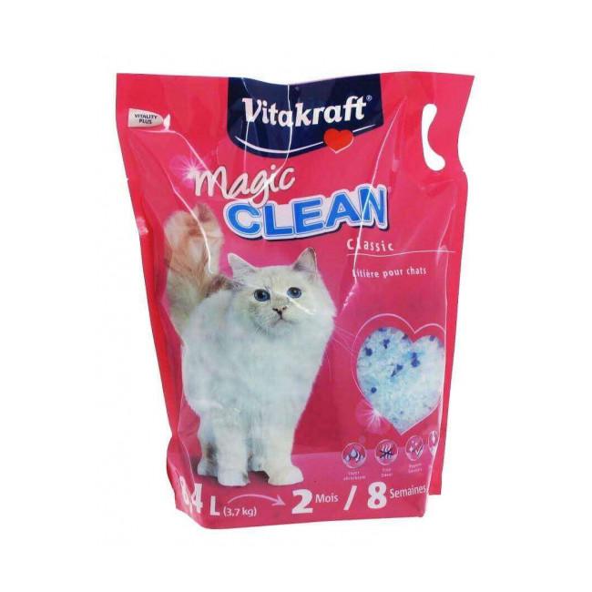 Litière Magic Clean en silice Vitakraft pour chats