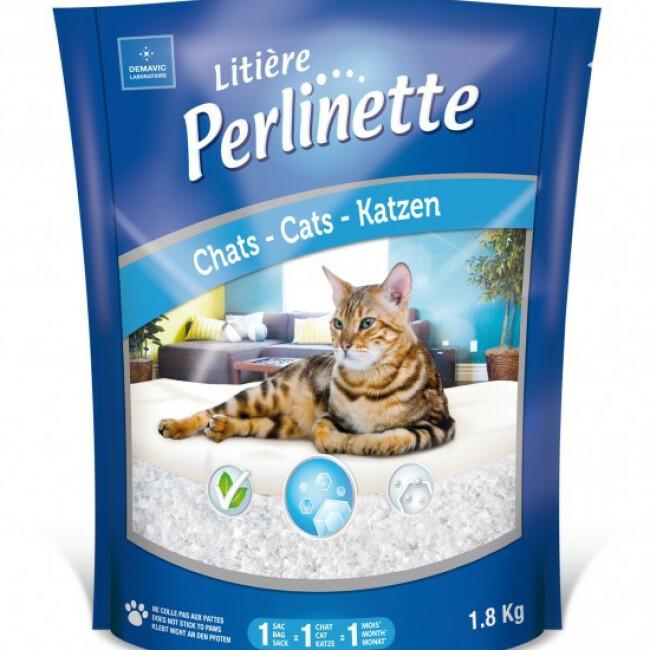 Litière Perlinette cristaux pour chat