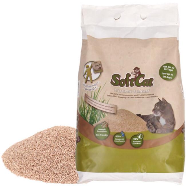 Litière végétale agglomérante Softcat pour chat