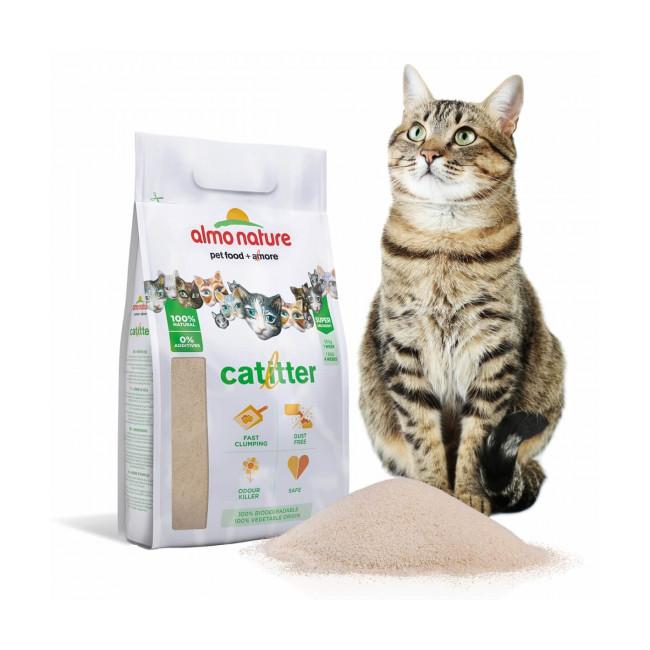 Litière végétale CatLitter Almo Nature pour chat Sac 4,54 kg