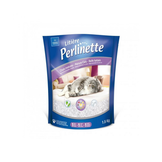Litière Perlinette silice pour chat mature