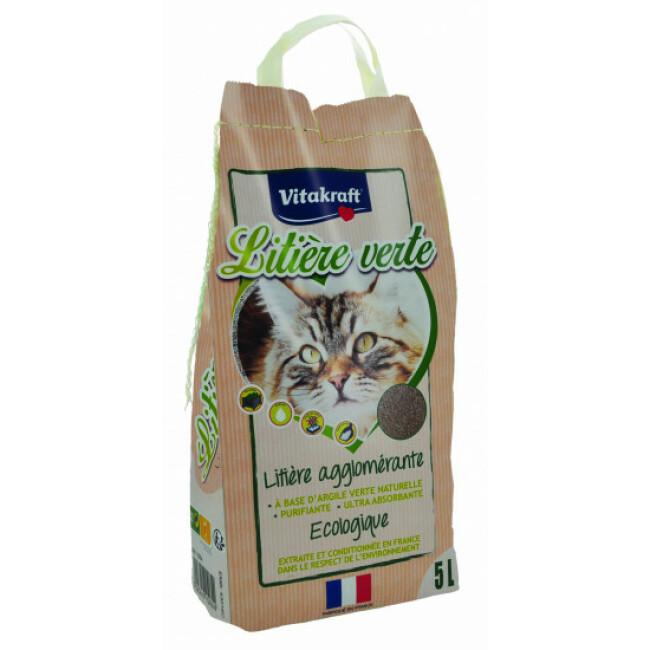 Litière verte à l'argile pour chat Vitakraft