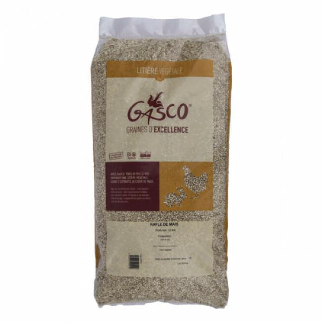 Litière végétale et biodégradable rafle de maïs Gasco