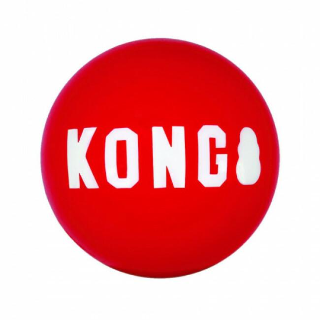 Lot de 2 balles en caoutchouc rebondissantes pour chien KONG Signature