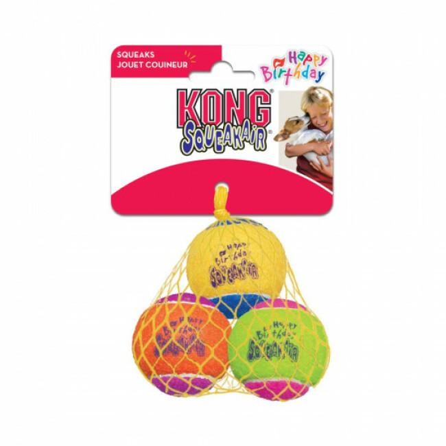 Lot de 3 balles avec squeaker KONG Air Birthday