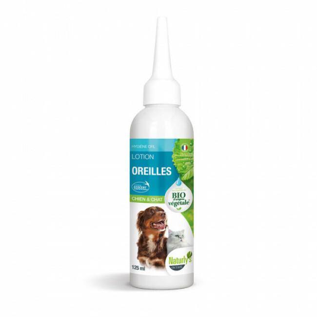 Lotion auriculaire naturelle pour chien et chat Naturlys flacon 125 ml