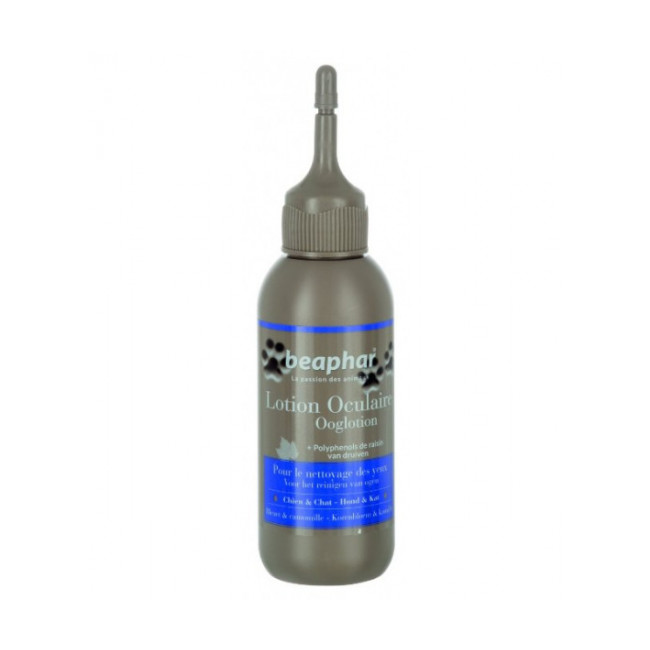 Lotion oculaire naturelle Beaphar camomille et bleuet pour chien et chat 125 ml