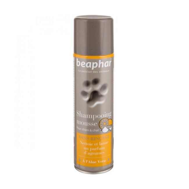 Lotion shampoing sans rinçage pour chien et chat