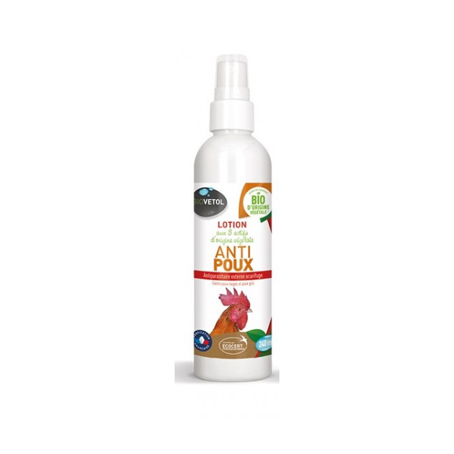 Lotion végétale anti-poux pour poules Biovetol