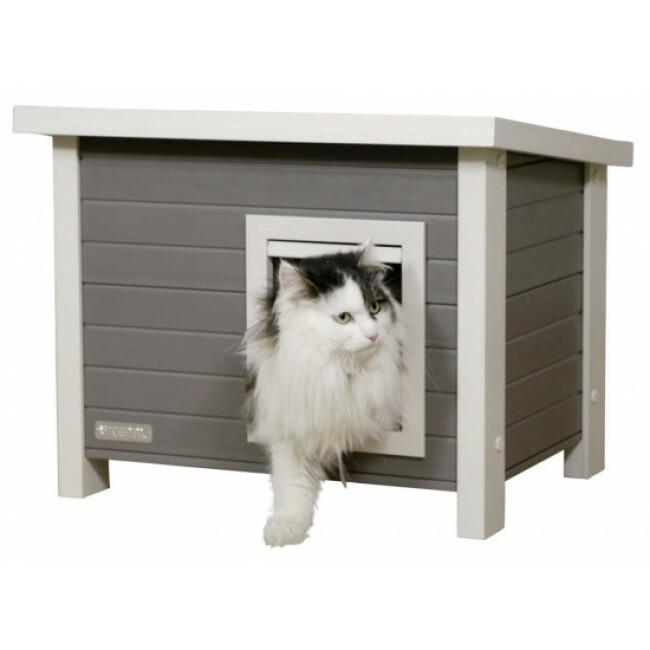 Maison pour chat en plastique et bois Eli