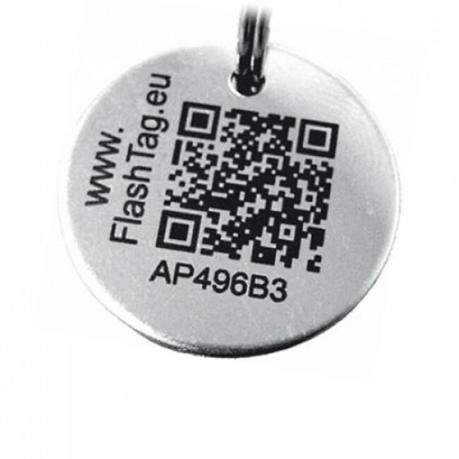 Médaille intelligente gravée QR code d'identité pour chien et chat