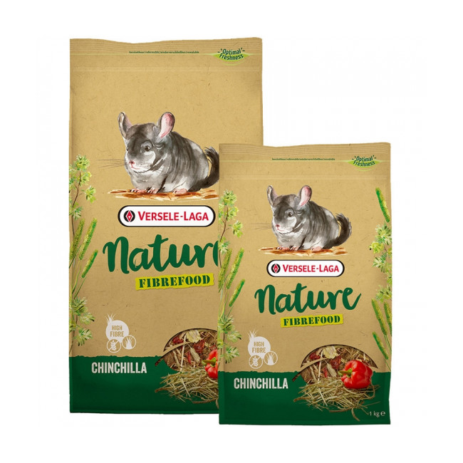 Mélange riche en fibres Nature Fibrefood Chinchilla Versele Laga pour chinchillas sensibles