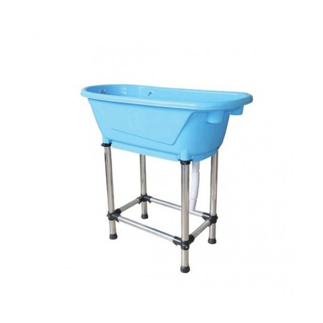 Mini baignoire bleue pour toilettage