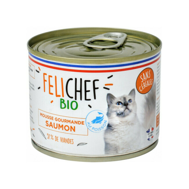 Mousse Bio Felichef pour chat
