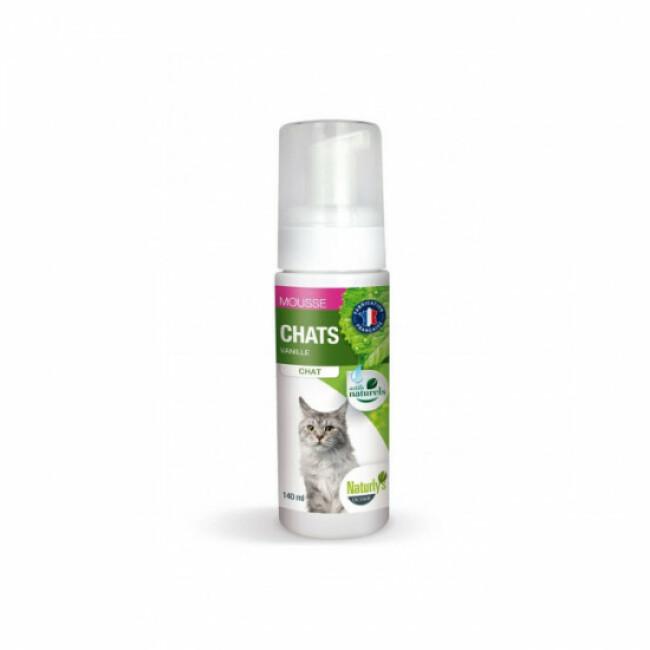Mousse hypoallergénique pour chats Naturlys spray 140 ml