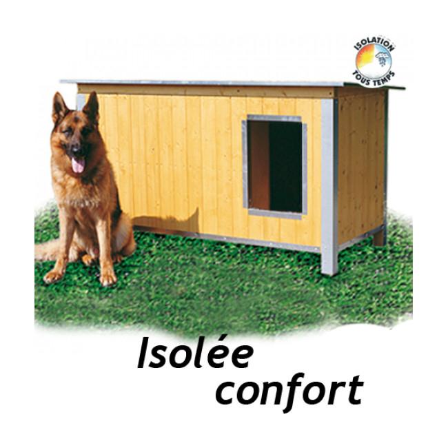 Niche chien isolée confort toit simple pan
