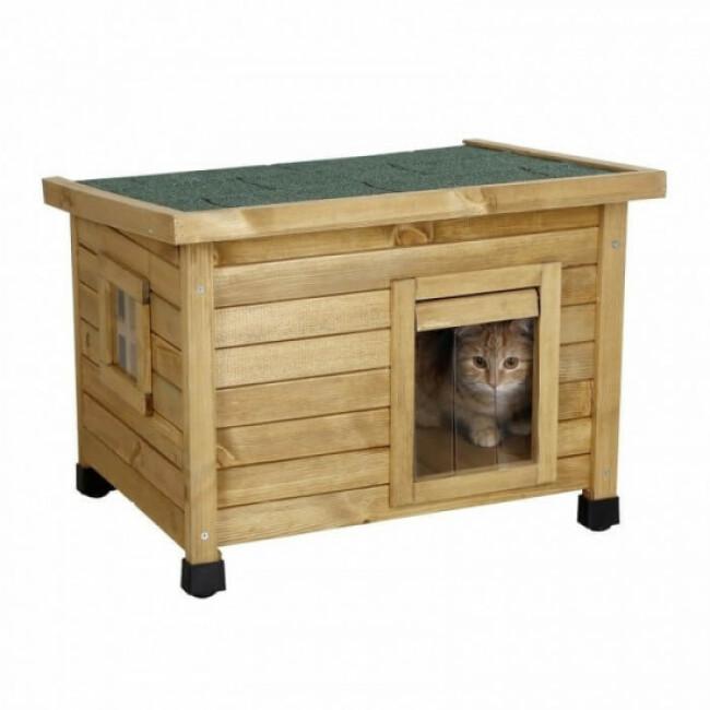 Niche en pin pour chat Rustica