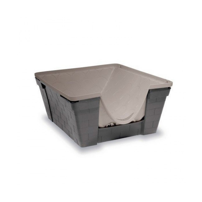 Niche en plastique Casa Felice Zolux gris taupe