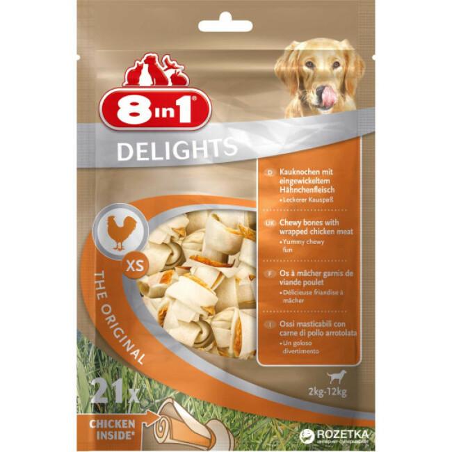Os à mâcher pour chien Delight 8 in 1 au poulet