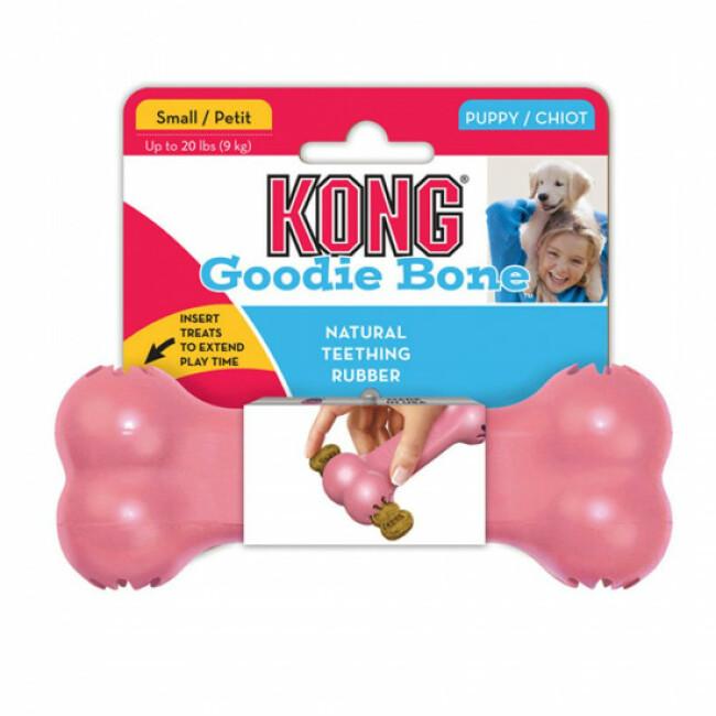 Os en caoutchouc à garnir pour chiot KONG Puppy Goodie Bone