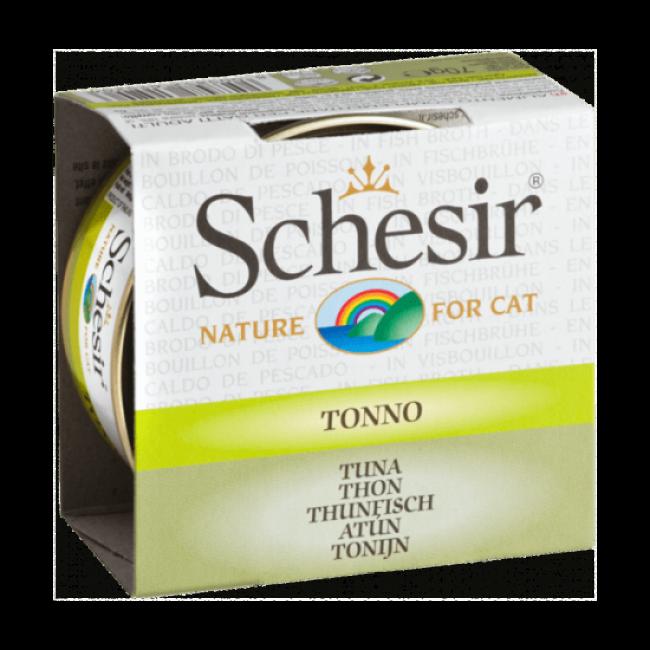 Pâtée pour chat avec bouillon Schesir Boîte de 70 g