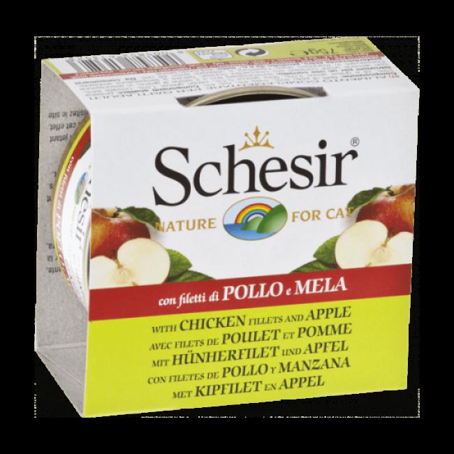 Pâtée pour chat avec morceaux de fruits Schesir - Boîte 75 g