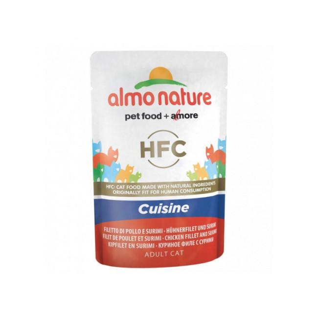 Pâtée pour chat HFC Cuisine Almo Nature - Lot de 6 pochons 55 g