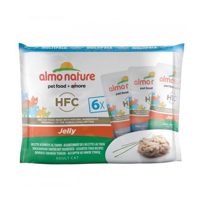 Pâtée pour chat HFC Jelly Almo Nature - Lot de 6 sachets en gelée x 55 g